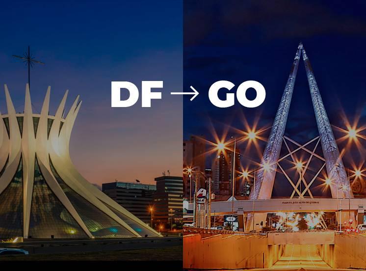 De Brasília para Goiânia