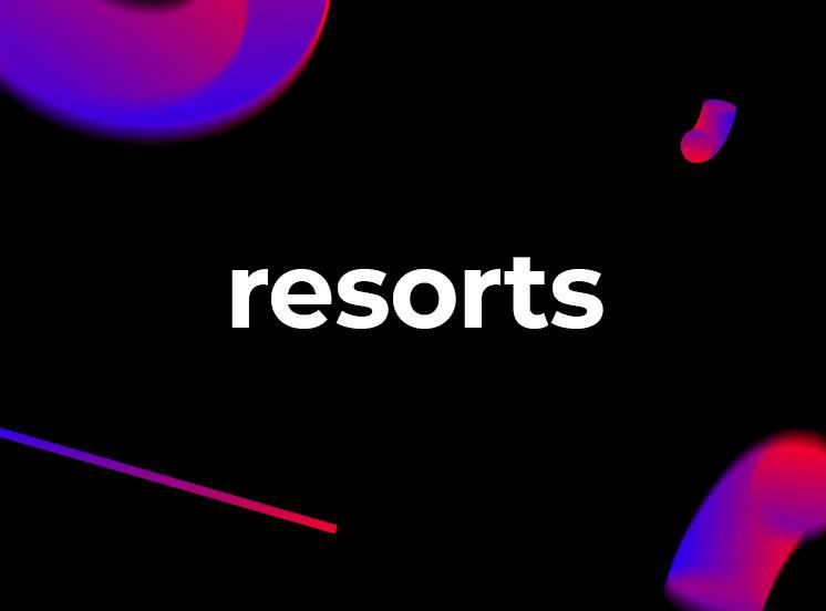 Relaxe em um resort