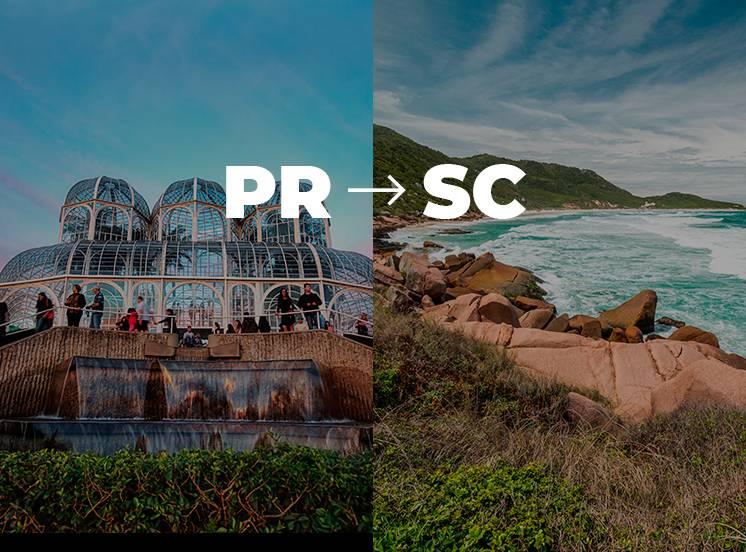 De Curitiba para Florianópolis