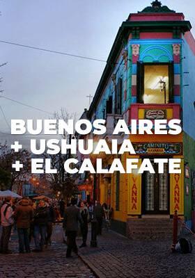 Pacote Buenos Aires + Ushuaia + El Calafate
