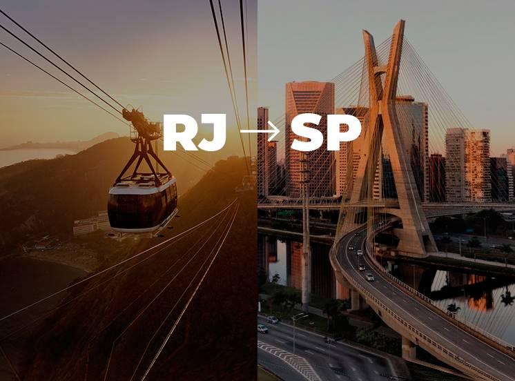 De Rio de Janeiro para São Paulo