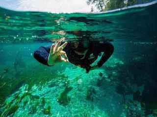 Experiência de mergulho com snorkel no Rio Sucuri